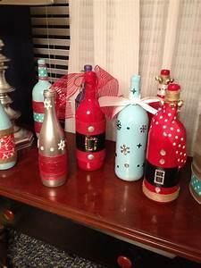 Christmas, Wine, Bottles
