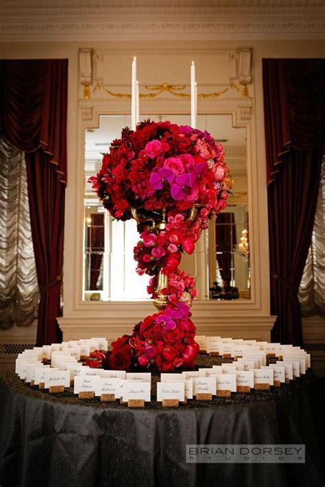 table decorations centerpieces filled york wedding at the st regis hotel
