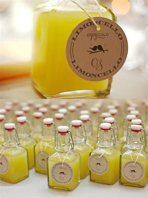 gastgeschenk hochzeit limoncello rustikal essbare