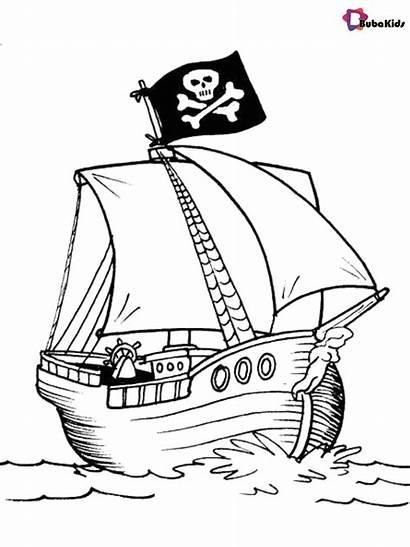 Pirate Ship Coloring Printable Bubakids Piraten Sheets
