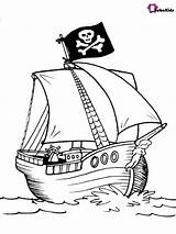 Pirate Coloring Ship Printable Piraten Colorare Ausmalbilder Kleurplaten Pirates Malvorlage Zum Bubakids Barca Nave Kleurboeken Gratis Sheets Disegnidacolorare Cartoon Ausdrucken sketch template