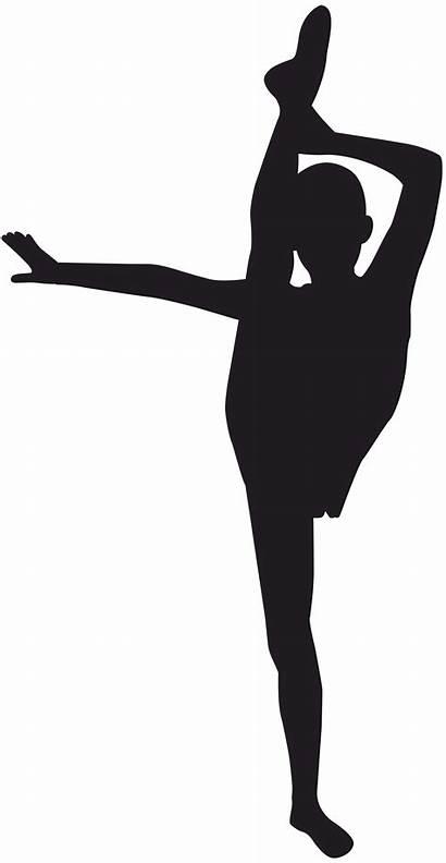 Gymnastics Silhouette Gymnast Clip Clipart Tumbling Transparent