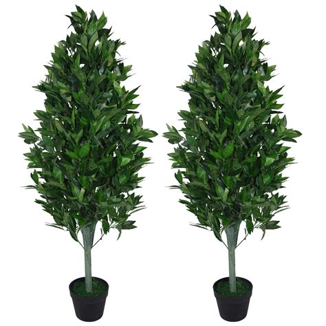 120cm (4ft) Artificial Topiary Bay Tree Pyramid Cone