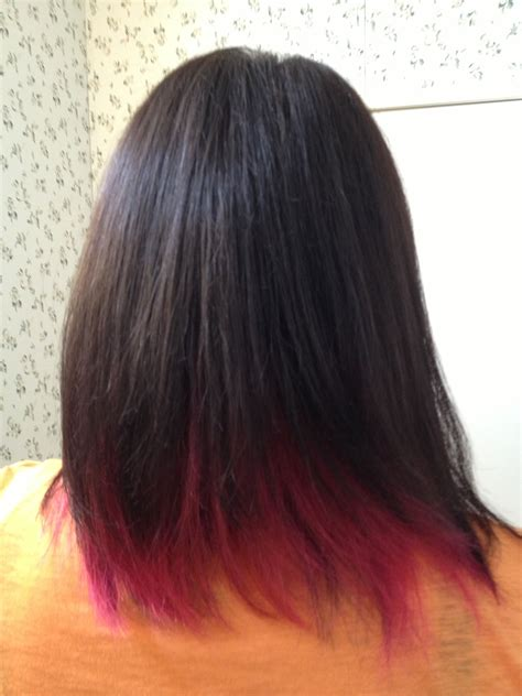 Black Hair With Brown Tips by Pink Brown Hair My Style Pink Hair Dye