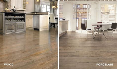 tile vs hardwood in kitchen 4 reasons to choose porcelain tile that looks like wood 8508