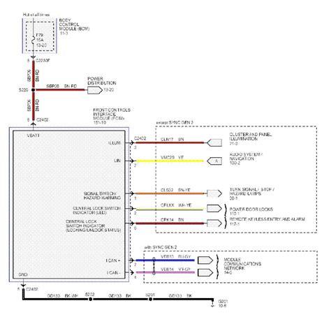 ford focus mk sync audio wiring diagram sch service