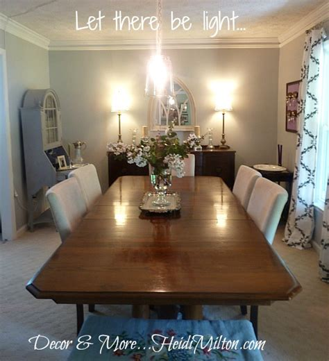 diy pendant light fixture dining room details
