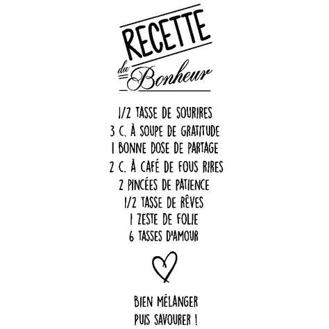 recette de cuisine drole sticker citation recette du bonheur stickers citations