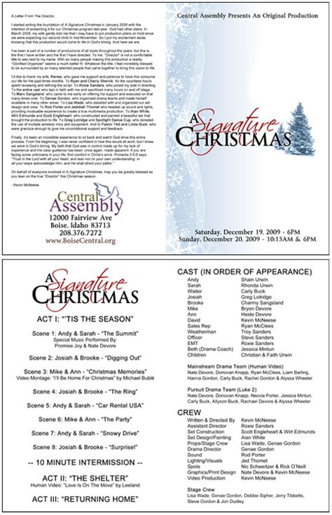 church christmas program template signature christmas