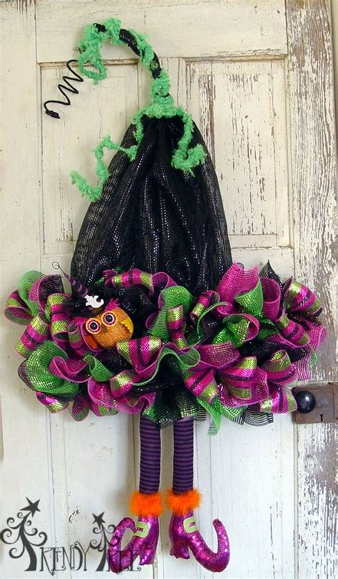 cute diy witch wreath tutorials ideas  halloween hative