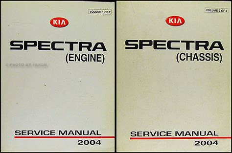 download car manuals pdf free 2004 kia spectra lane departure warning 2004 kia spectra repair shop manual original 2 vol set