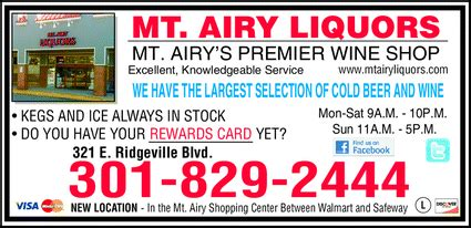 Deck Mt Airy Md Menu by Mt Airy Liquors Mount Airy Md 21771 5217 Yellowbook