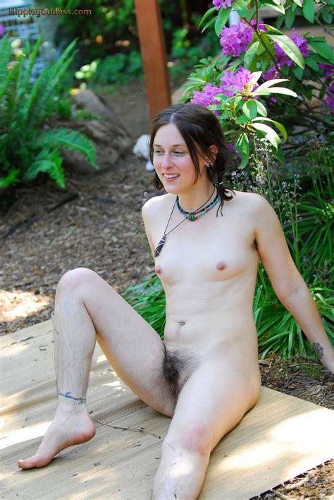 amateur hirsute hippie woman naked