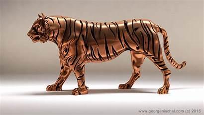 Tiger 3d Models Character Characters Sculpture Ready