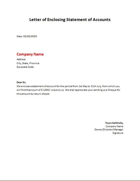 bills  statement letters word excel templates