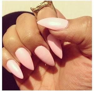 Light pink Stiletto Nails | Nails | Pinterest | Heart ...