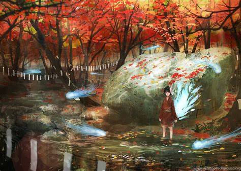 Anime Fall Wallpaper - fall anime wallpaper www pixshark images galleries