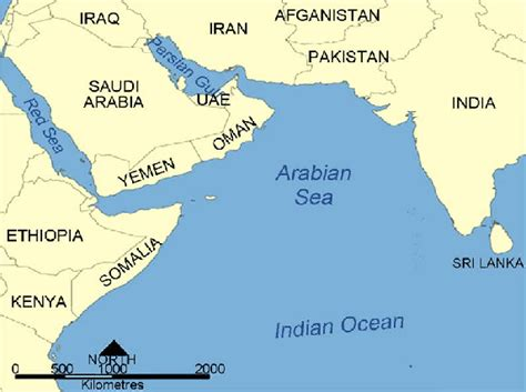 indian ocean map studied region  scientific