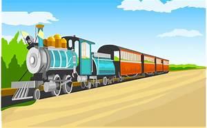 Cartoon Railway Related Keywords & Suggestions - Cartoon ...