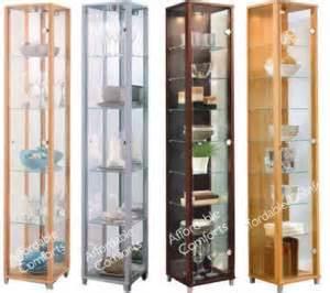 new ikea detolf glass door display cabinet curio beech