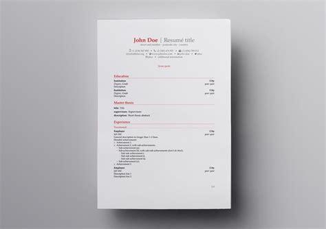 academic cv template latex  resume examples