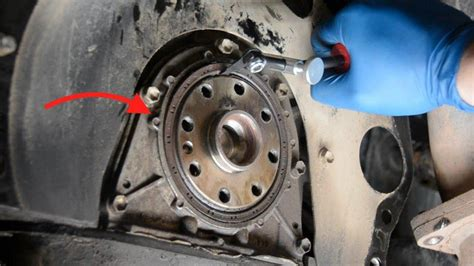 replace  rear main seal  removing