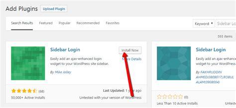 How To Add A Login Form To Your Wordpress Sidebar Widget