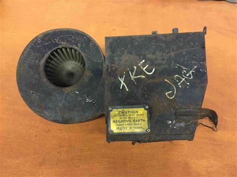 jaguar xke  type series  heater box lucas fan motor