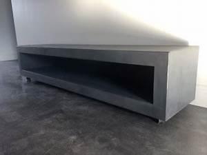 Meuble Tv Effet Beton : table beton le site des tables en b ton cir sur mesure ~ Teatrodelosmanantiales.com Idées de Décoration