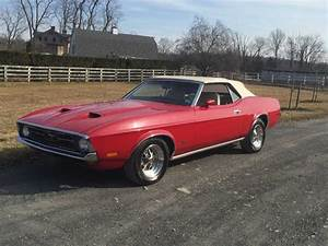 1st gen classic red 1972 Ford Mustang convertible For Sale - MustangCarPlace