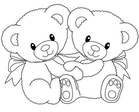 Teddy Bear Holding A Heart Drawing At Getdrawings.com