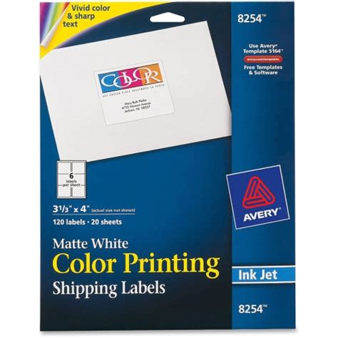 avery color printing labels ave8254 shoplet