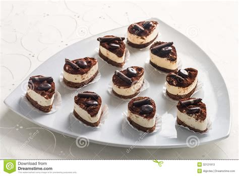 desserts with cocoa powder and chocolate stock photos image 32121813