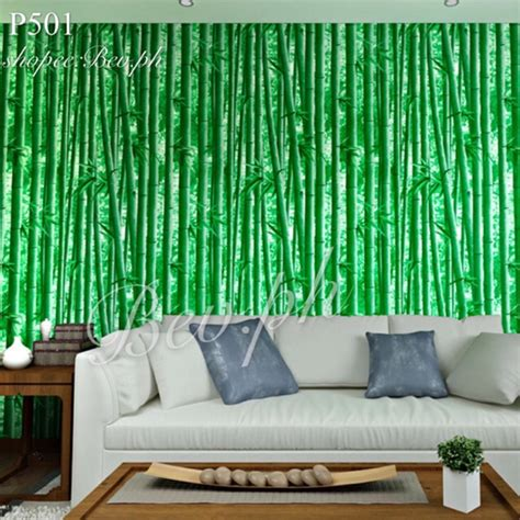 3d Green Bamboo Leaves Wallpaper Waterproof 10m45cm Decor