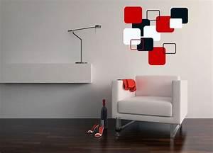 Modern cubist wall decals design interior ideas