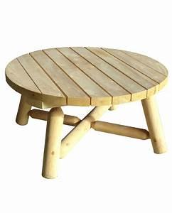 Table De Jardin Ronde En Bois : table basse de jardin en bois de c dre blanc grand mod le ~ Dailycaller-alerts.com Idées de Décoration