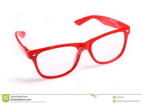 Red Glasses Stock Photo. Image Of Object, Eyesight, White