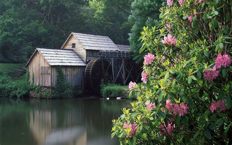 Lovely Grist Mill 295512 Wallpapers13com