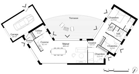 cuisine plan de travail blanc plan de maison en u ouvert