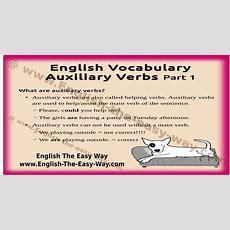 Auxiliary Verbs Usage  English Grammar  English The Easy Way