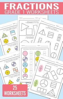 fractions worksheets  grade   easy peasy learners tpt
