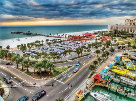 Clearwater, Clearwater, Florida   View from a rooftop bar in