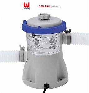 58381 Bestway 330gal Flowclear Filter Pump For 1100 8300 L