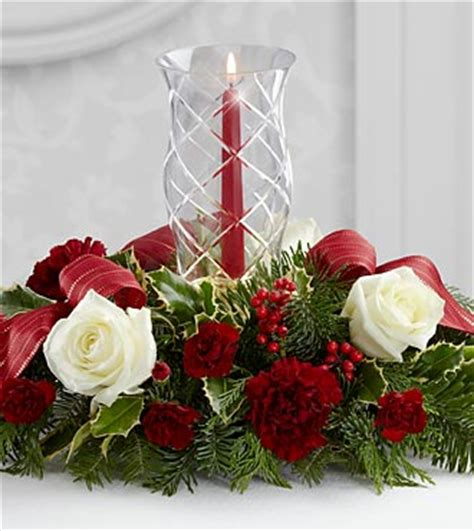 The Ftd Holiday Wishes Centerpiece  The Village Greenery