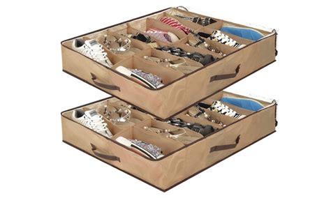 Aufbewahrung Unterm Bett schuhaufbewahrung unter dem bett groupon