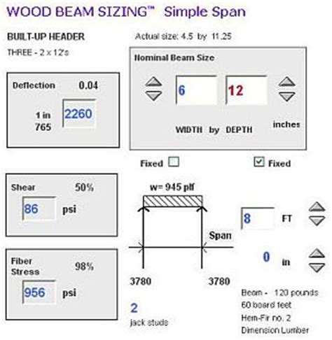 beam and joist calculations woodworking talk image gallery lvl beam span exles