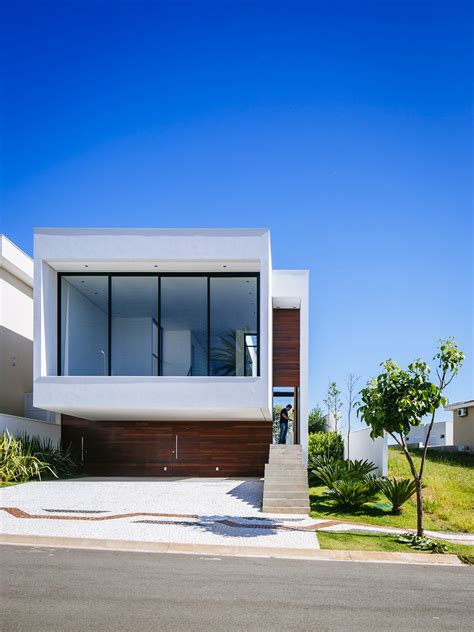 Sustainable Four-level Home In Brazil Exhibiting A Bold