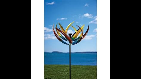 solar multi color tulip wind spinner youtube