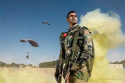 Army Indian Officer Soldier Paratrooper India Paratroopers