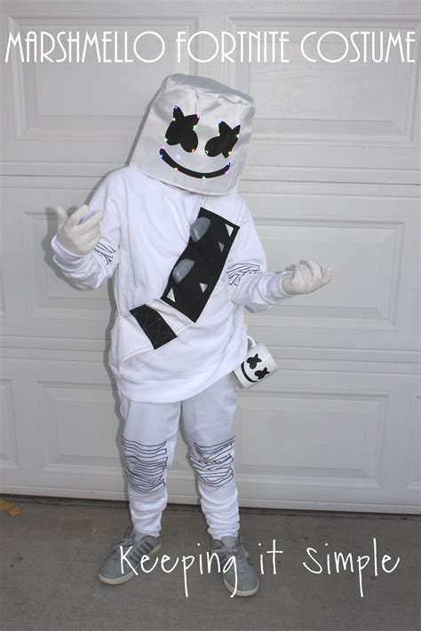 minute diy marshmello fortnite costume keeping